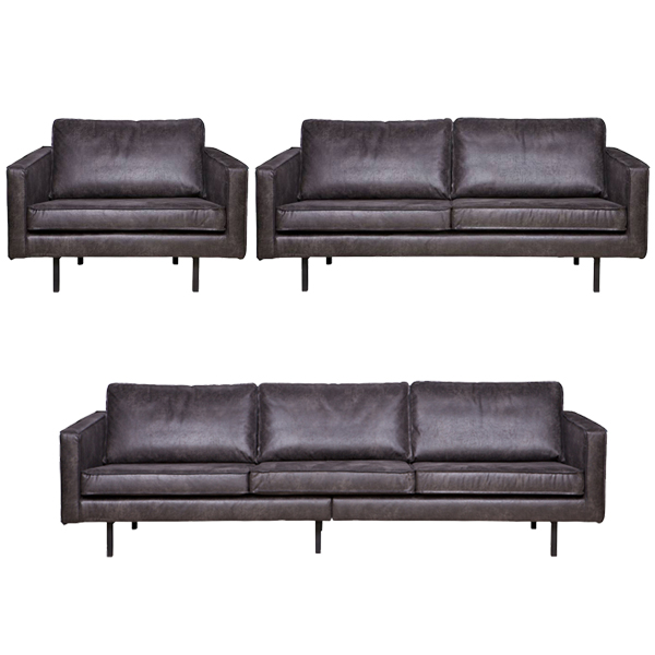 sessel 2 5 sitzer 3 sitzer rodeo echtleder leder lounge couch ledersofa schwarz ebay. Black Bedroom Furniture Sets. Home Design Ideas