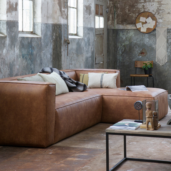 eckgarnitur bean leder cognac couch sofa ecksofa ledercouch longchair rechts ebay. Black Bedroom Furniture Sets. Home Design Ideas