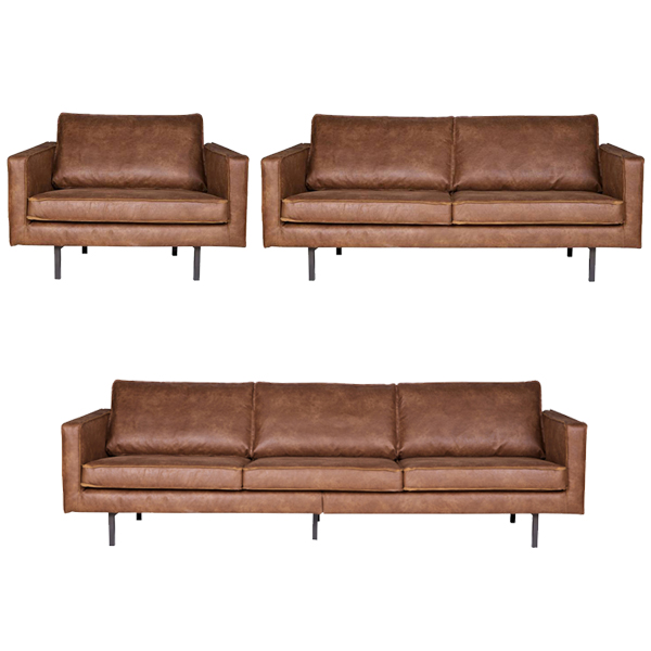 sessel 2 5 sitzer 3 sitzer rodeo echtleder leder lounge couch ledersofa cognac ebay. Black Bedroom Furniture Sets. Home Design Ideas